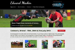 Rugby Academy Microsite for Edward Meakin Photography